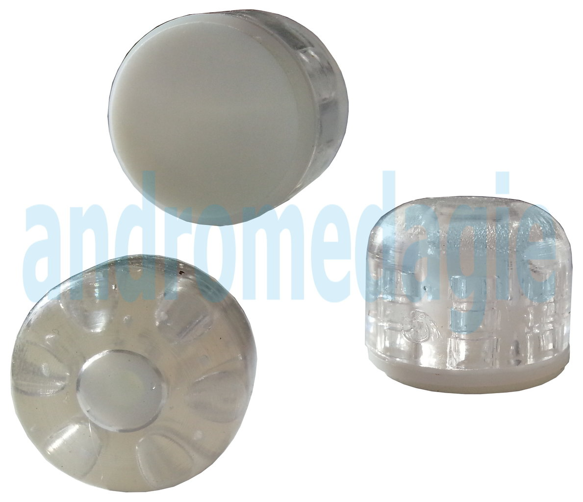 CONFECTION 2 PIECES DOORSTOP ROUND TRANSPARENT STICKER