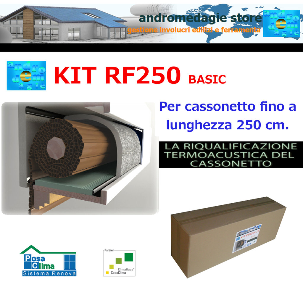 RF250 BASIC KIT RENOVA SYSTEM FOR ROLLER SHUTTERS