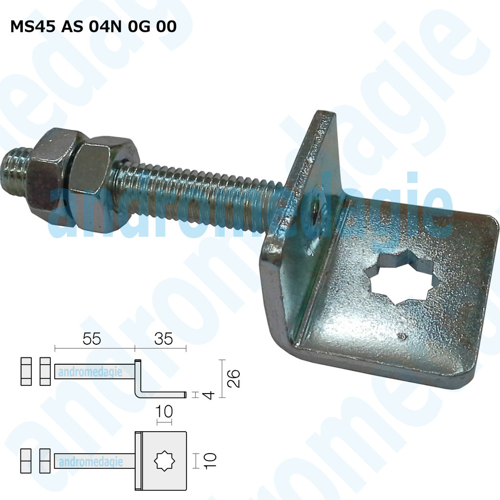 SUPPORT BRACKET ADJUSTABLE SCREW GALVANIZED