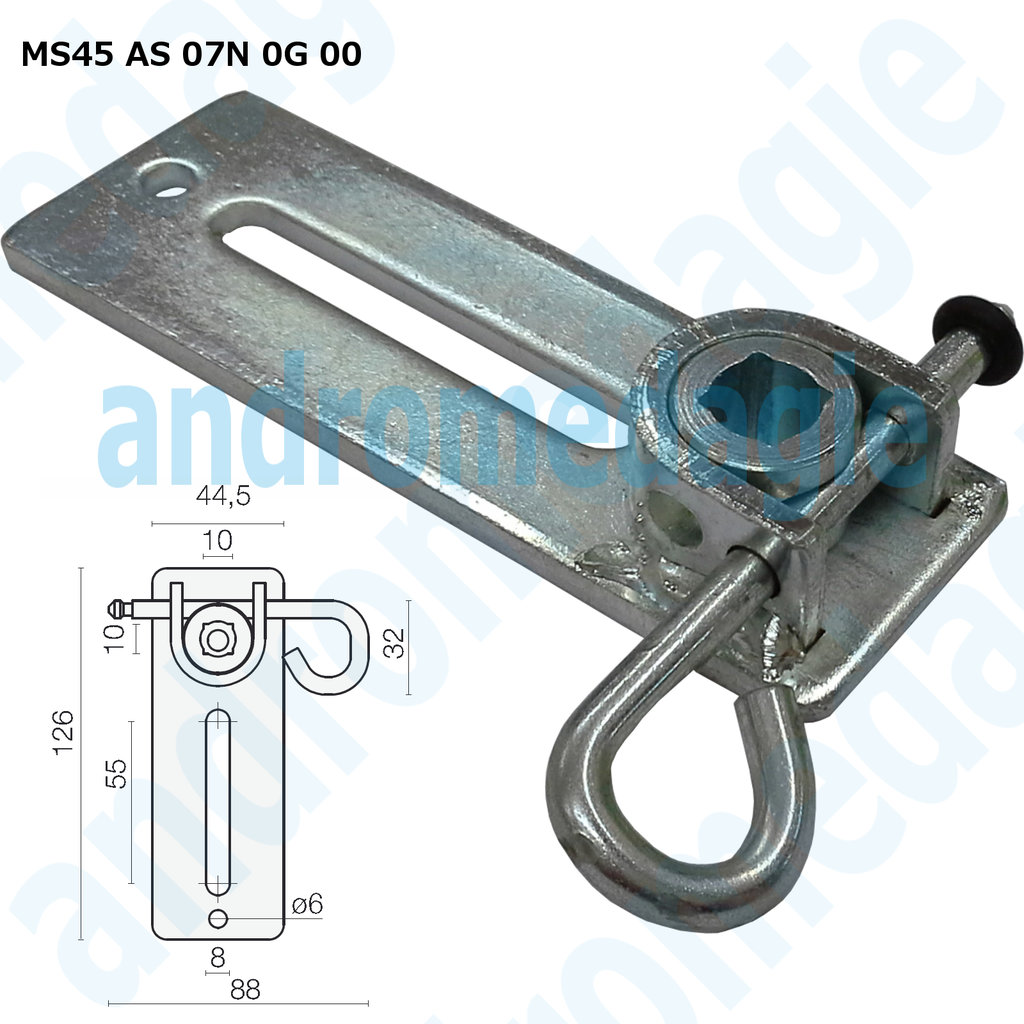 SUPPORT BRACKET ADJUSTABLE W/SPLIT PIN GALVANIZED