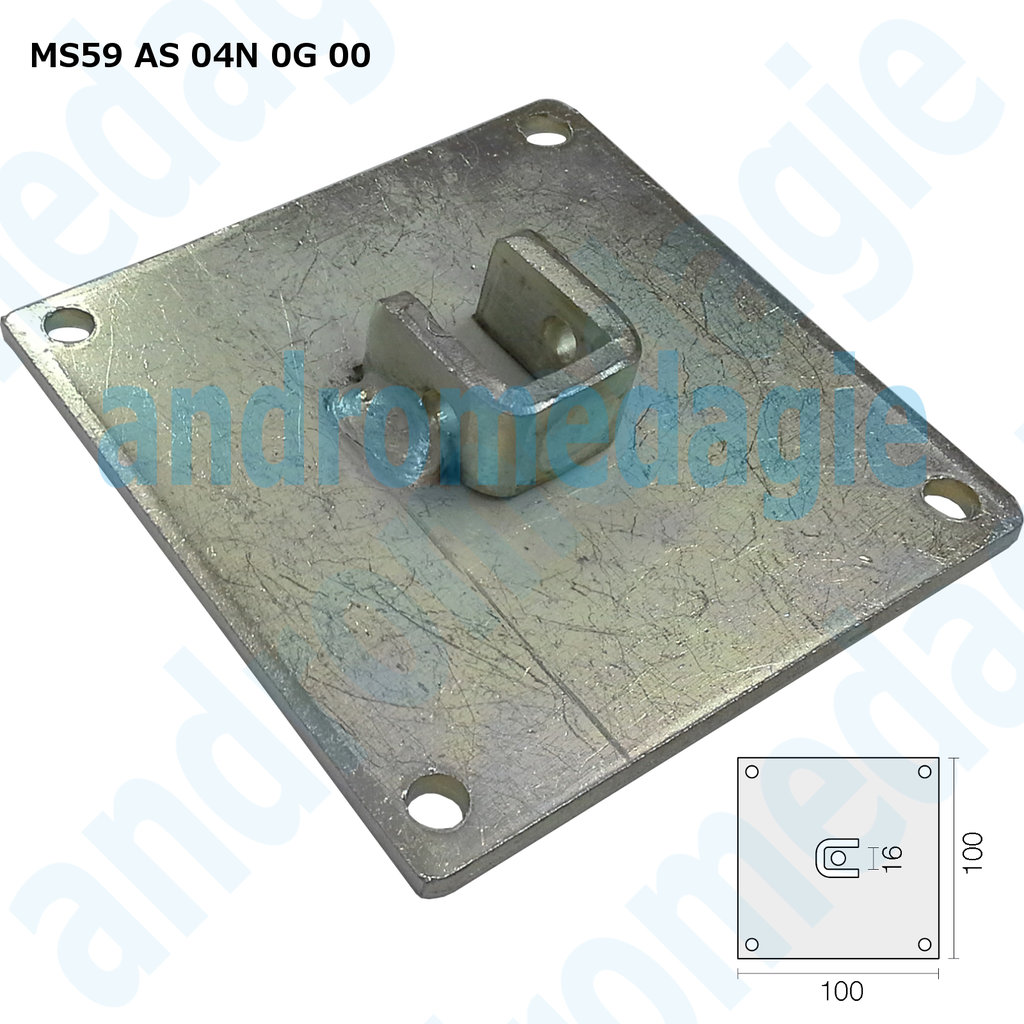 SUPPORT BRACKET SQUARE - SQUARE 16 MM GALVANIZED