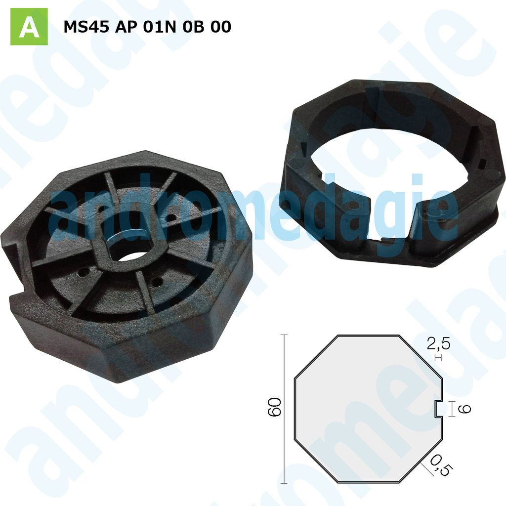 PULLEY CROWN OCTAGONAL ø60 MM TICKNESS 0,5