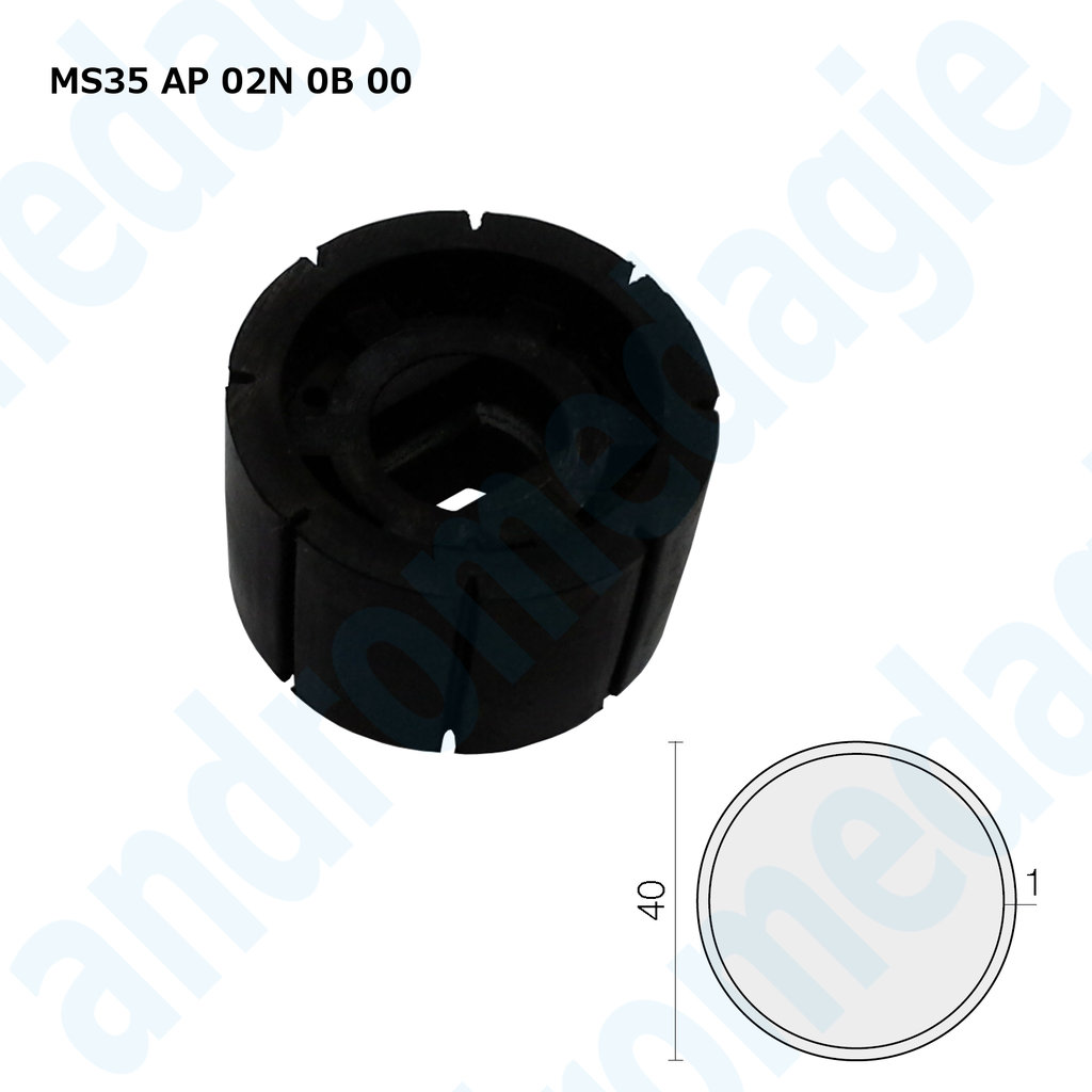 PULLEY CROWN ROUND ø40 MM