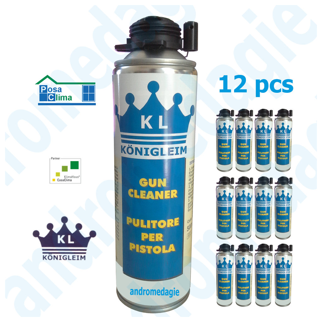 GUN CLEANER FOAM ½LT 12 PCS