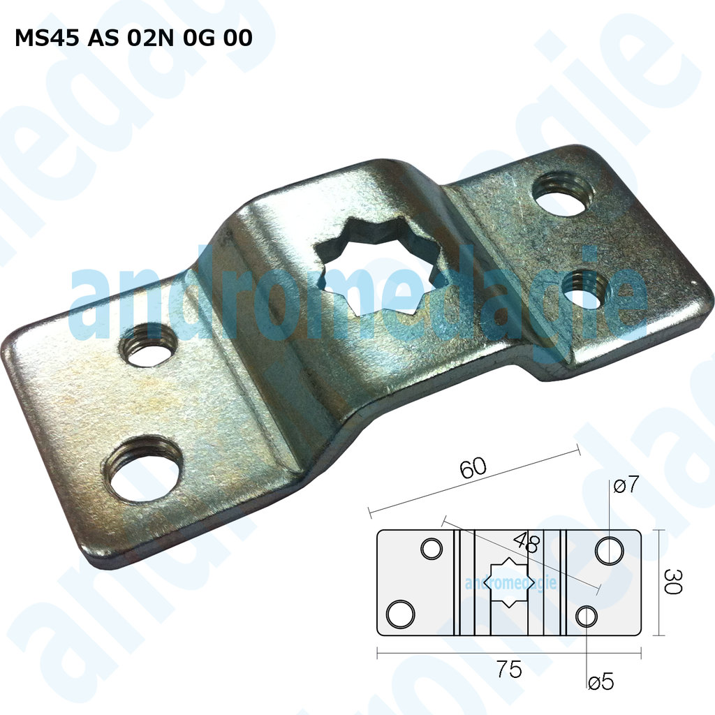 SUPPORT BRACKET WHEELBASE 48 MM MAX 50NM GALVANIZED