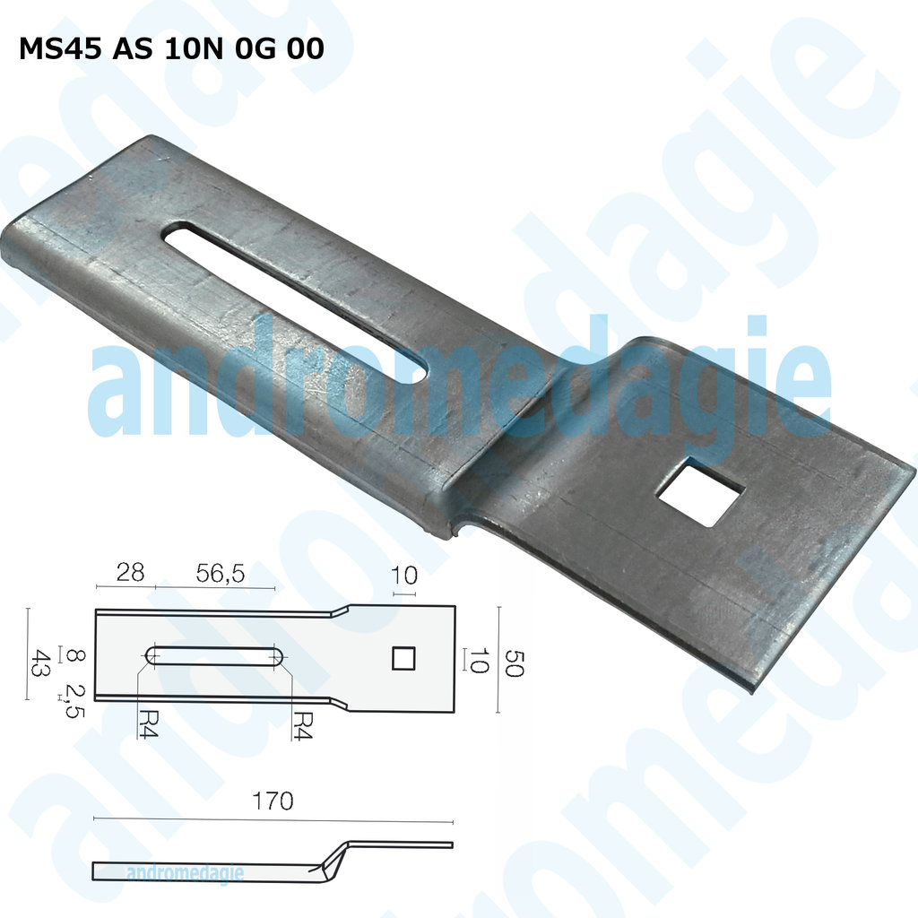 SUPPORT BRACKET FLAG GALVANIZED