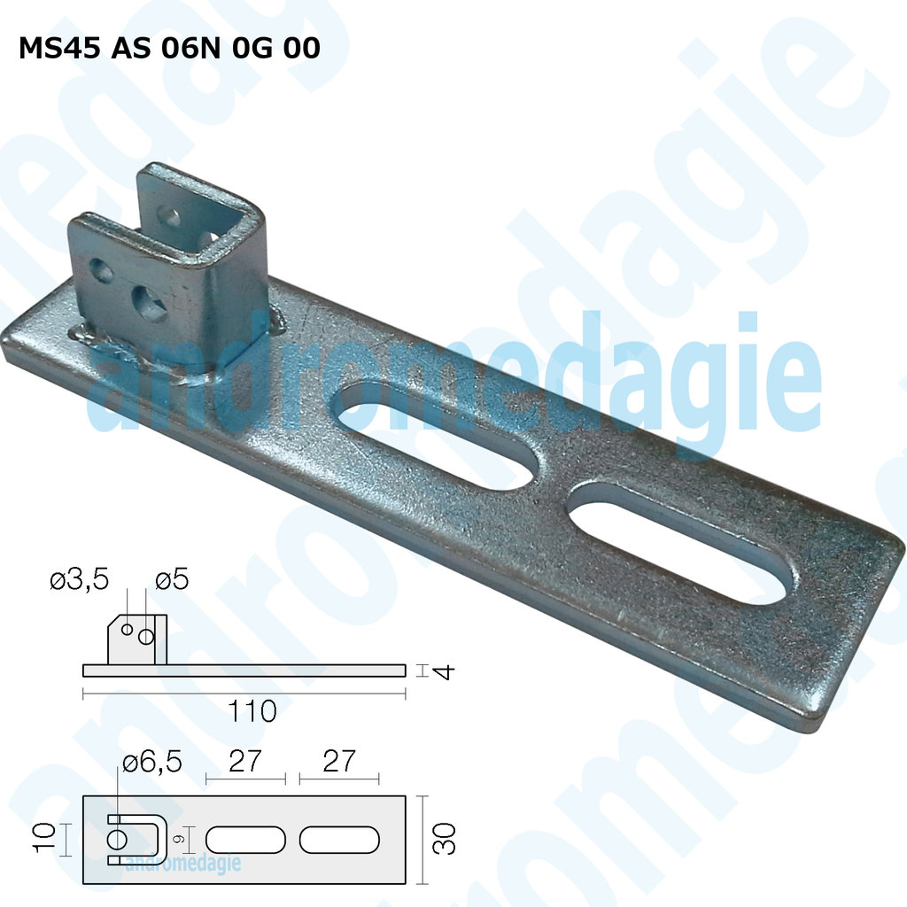 SUPPORT BRACKET ADJUSTABLE SLOT GALVANIZED