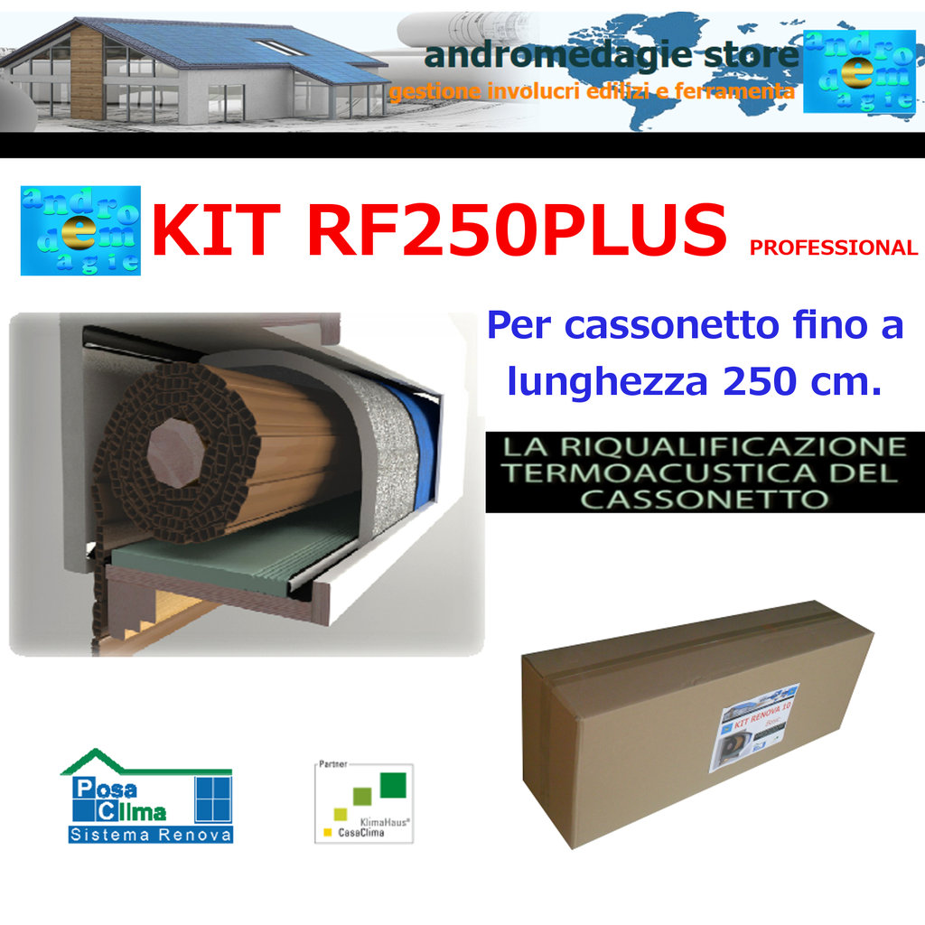 RF250PLUS PROFESSIONAL KIT RENOVA SYSTEM FOR ROLLER SHUTTERS
